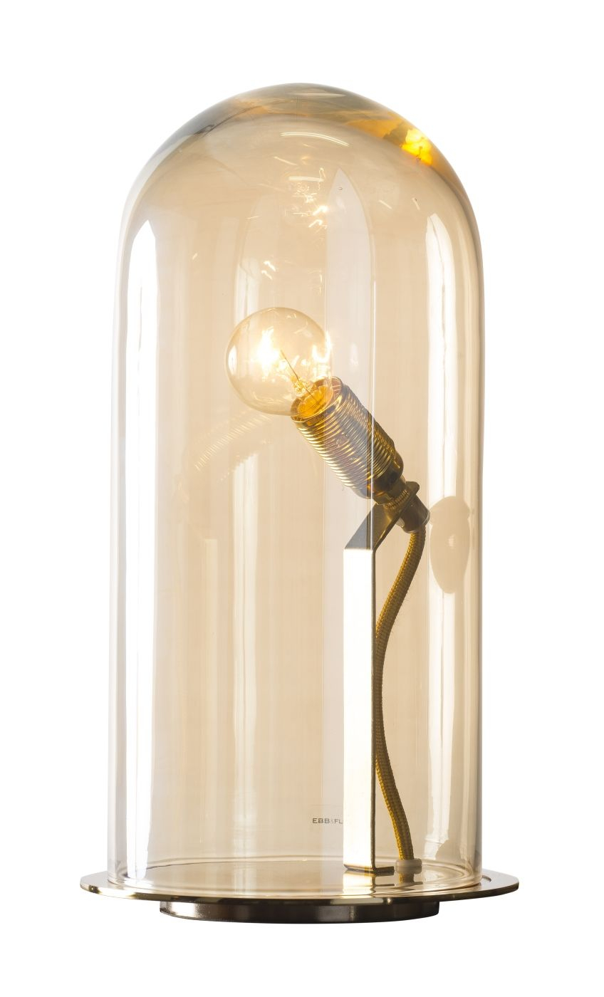 Ebb&Flow - Glasdome til Speak Up! Lamp, Golden smoke, Ø15,5