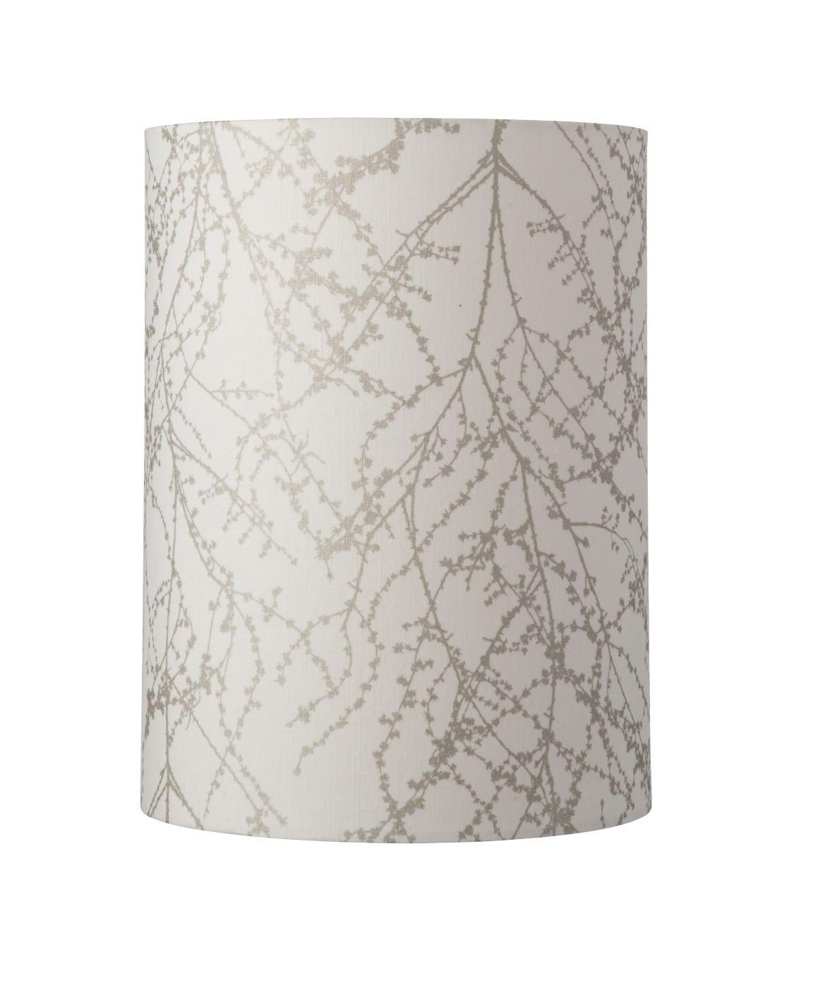 Ebb&Flow - Lampeskærm, branches, hvid/Sølv, Ø30