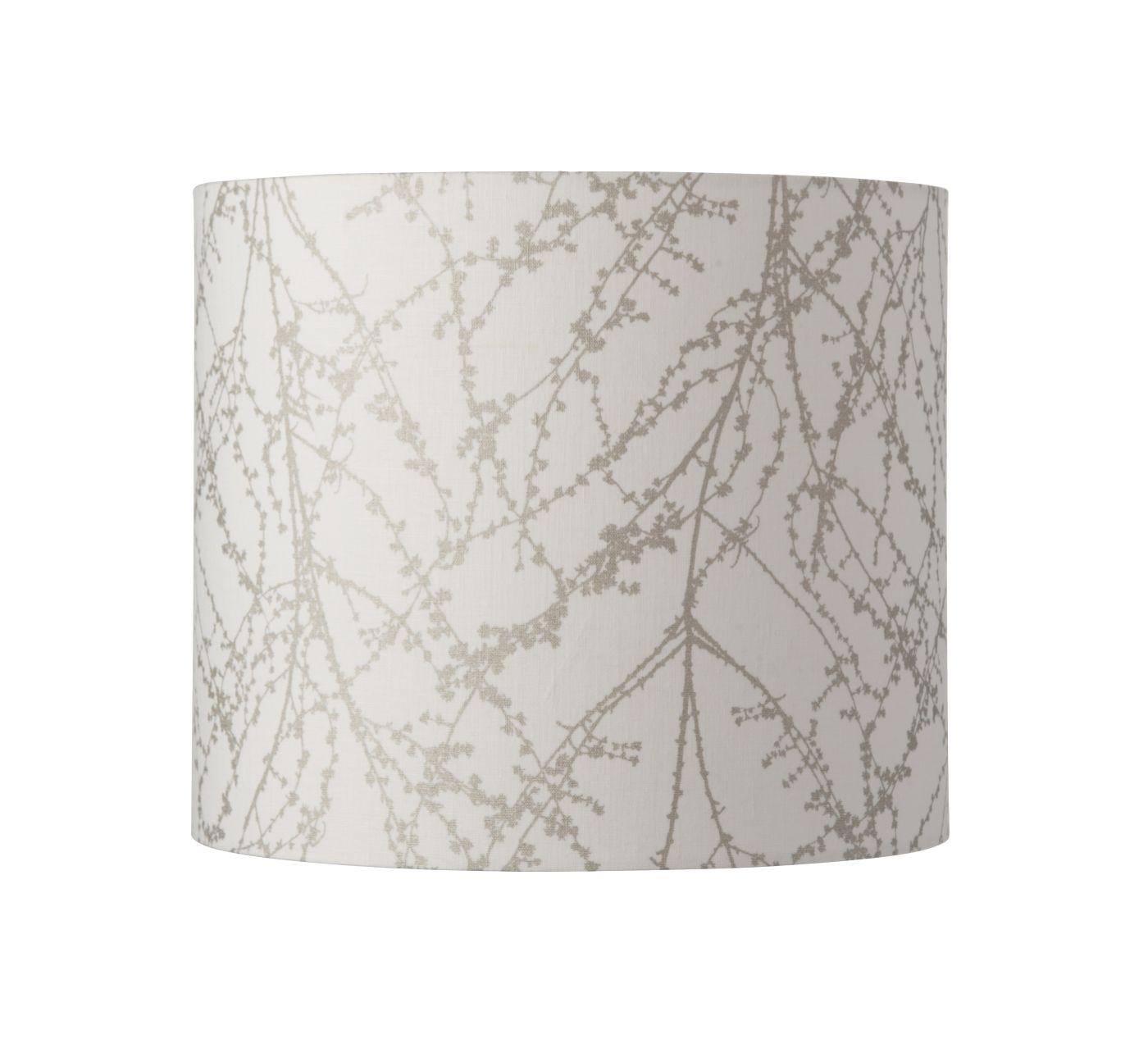 Ebb&Flow - Lampeskærm, branches, hvid/Sølv, Ø35