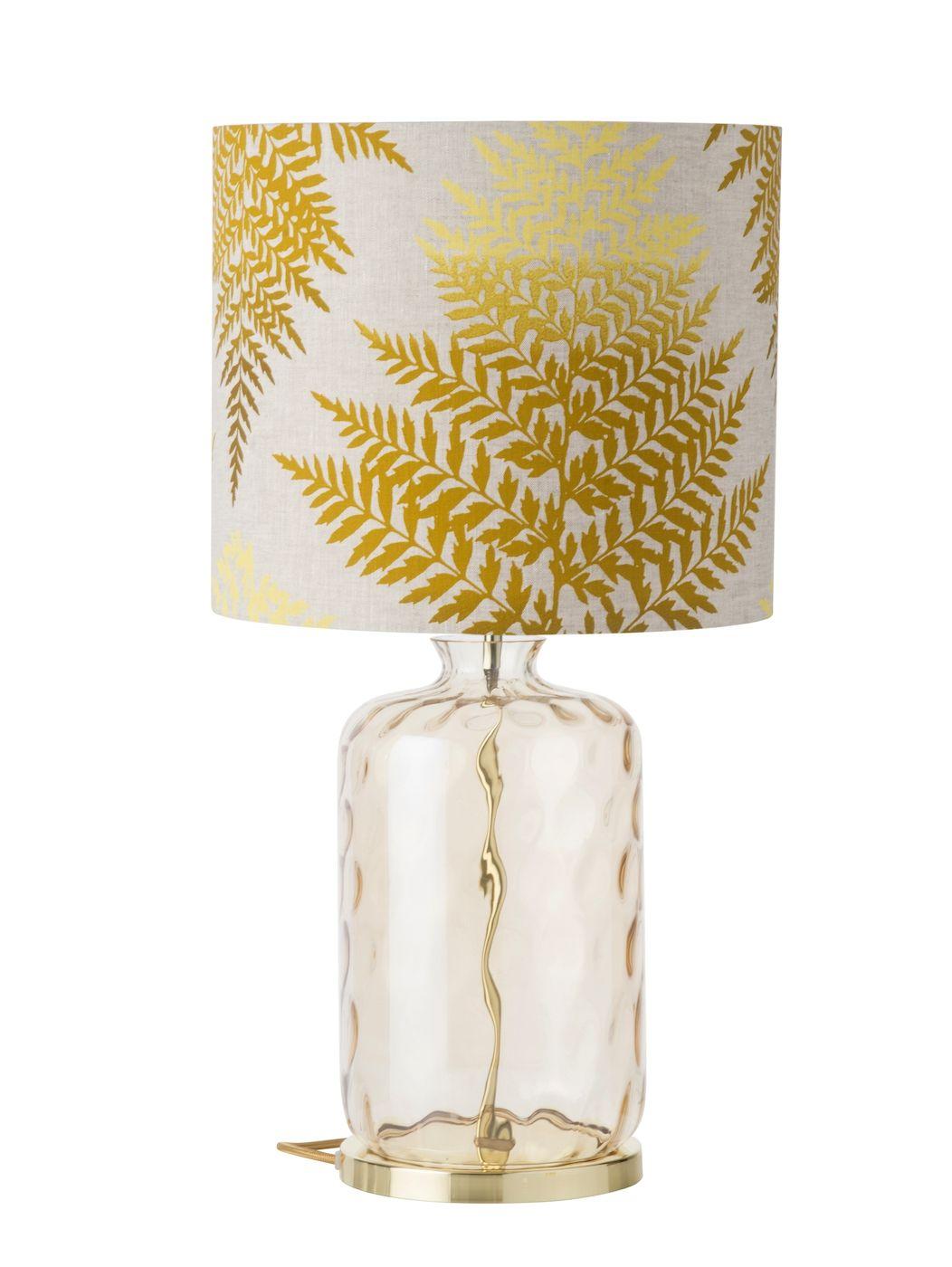 Ebb&Flow - Pillar lampefod, Golden smoke dimples, Guld base