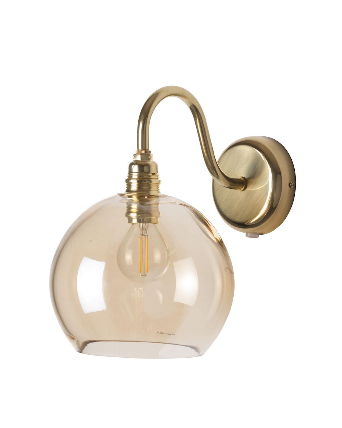 Ebb&Flow - Rowan væglampe, Golden smoke