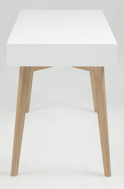 Eirik Skrivebord - Hvid - Hvidt skrivebord med skuffer
