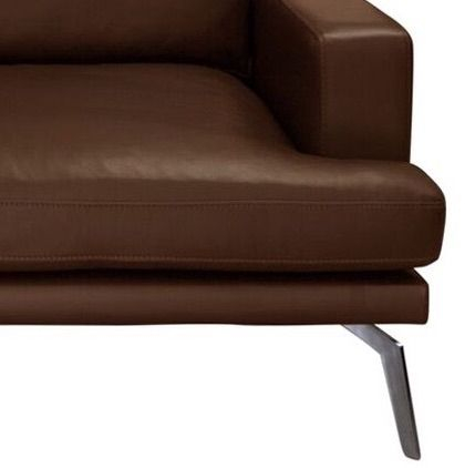 Elliot 2-pers. sofa - Mørk Brun læder