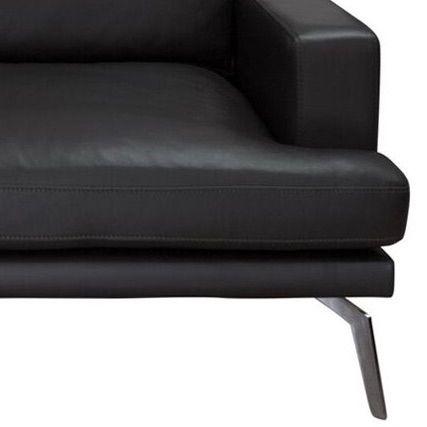 Elliot 2-pers. sofa - Sort Læder