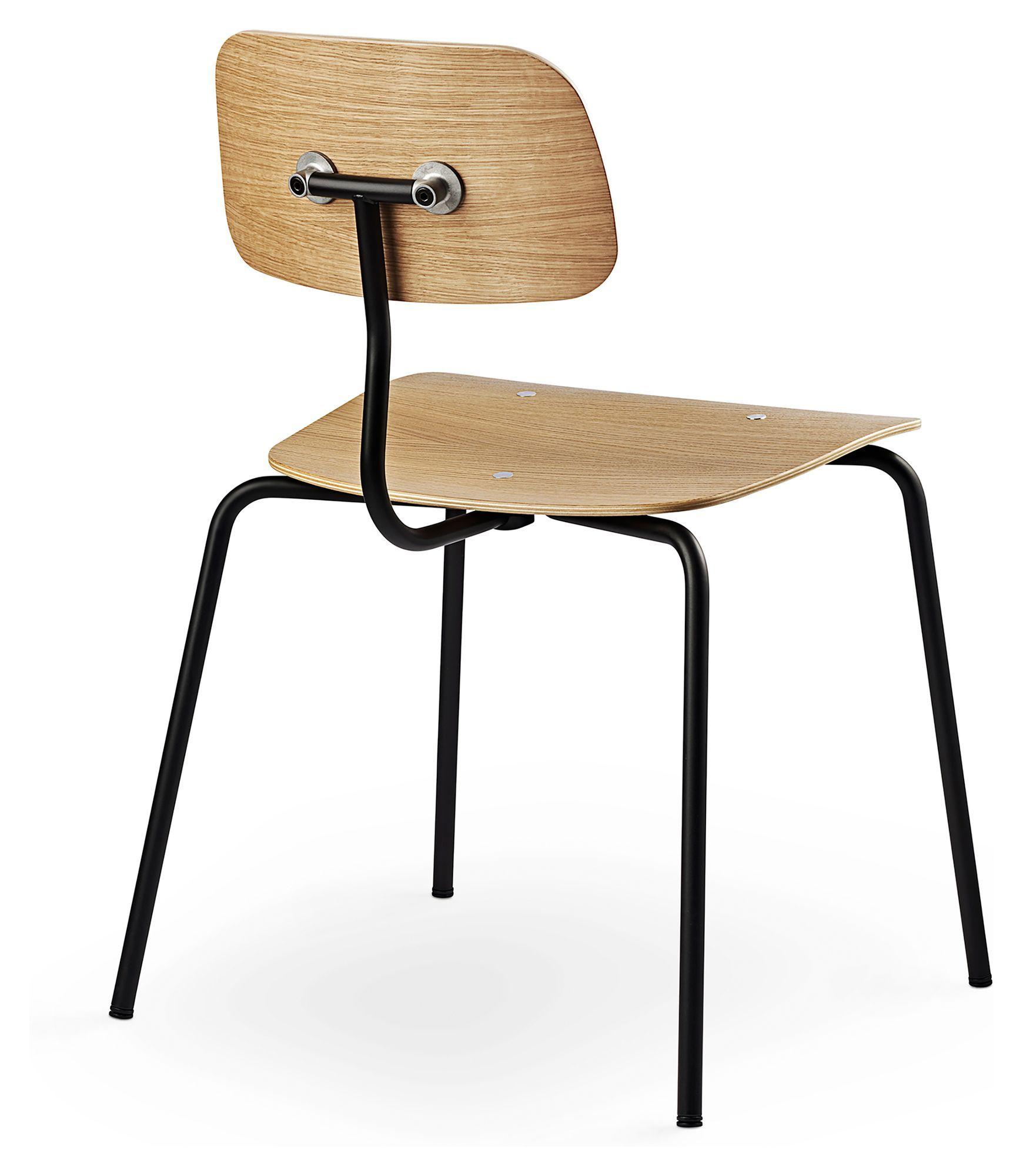 Engelbrechts KEVI 2060 Spisebordsstol, Eg/Sort