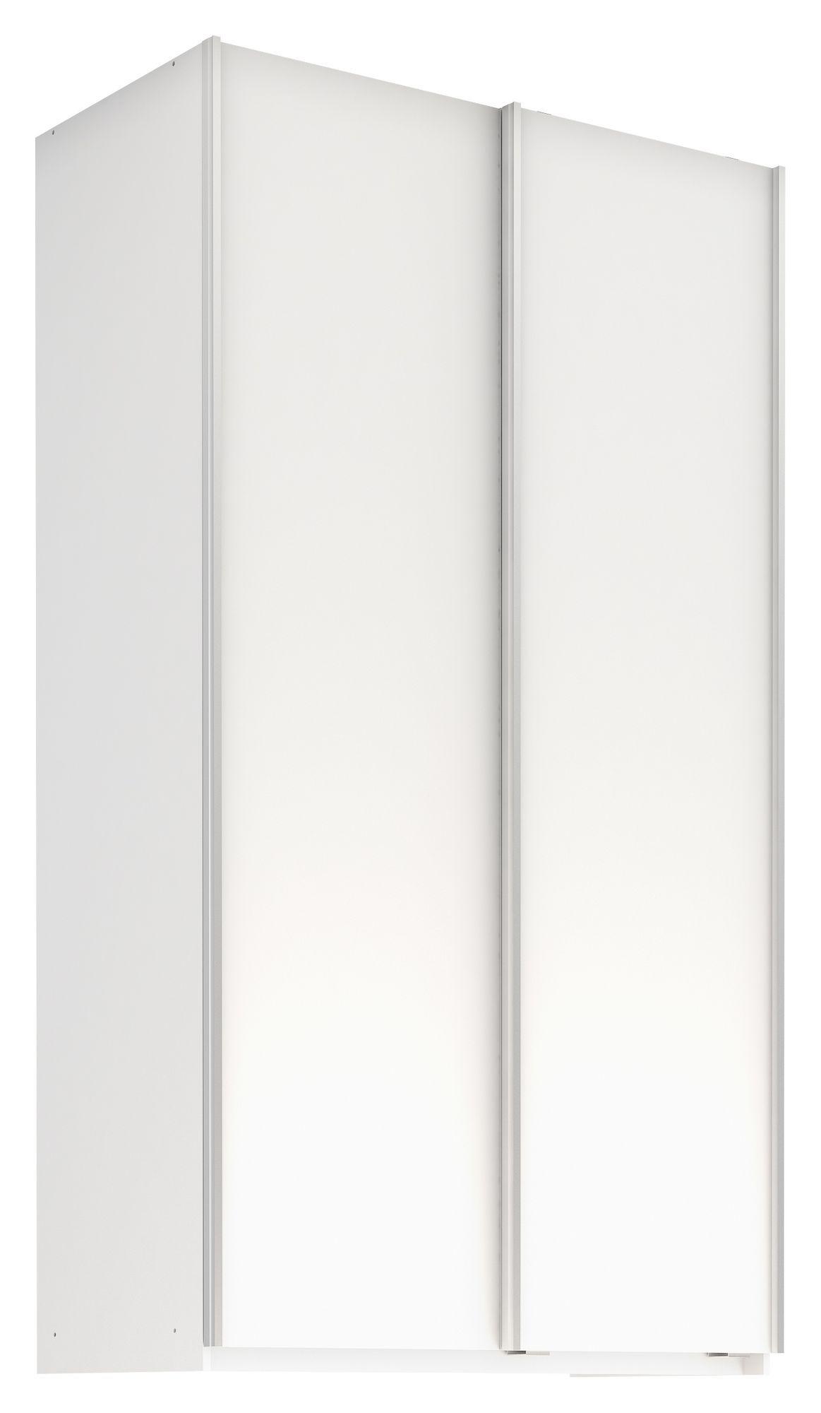 Esby Garderobeskab m. Skydedøre, Hvid 120cm