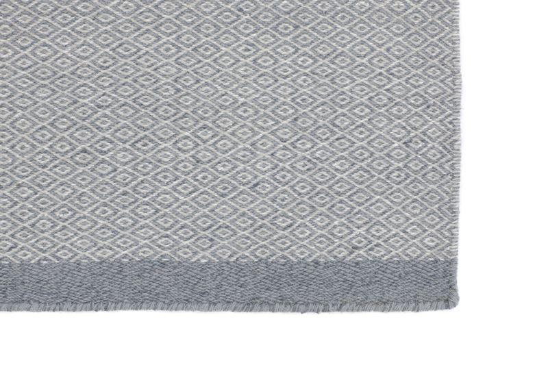 Fabula - Elli Kelim - Grå/lysgrå - Håndvævet tæppe 140x200 cm