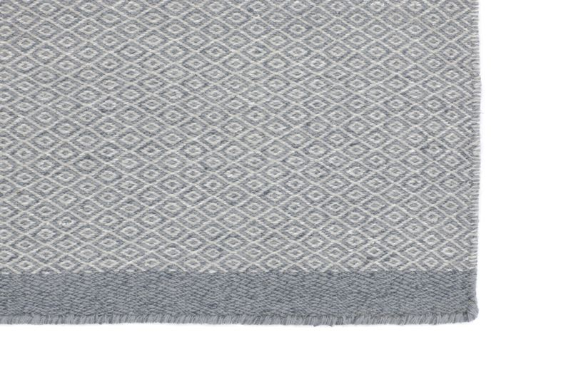 Fabula - Elli Kelim - Grå/lysgrå - Håndvævet tæppe 170x240 cm