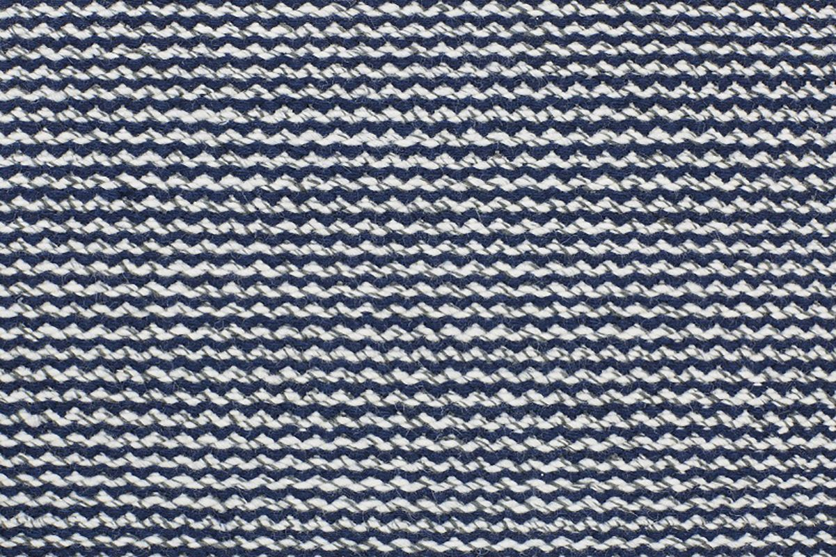 Fabula Fenris Kelim - Grå/Blå - Håndvævet tæppe 140x200 cm