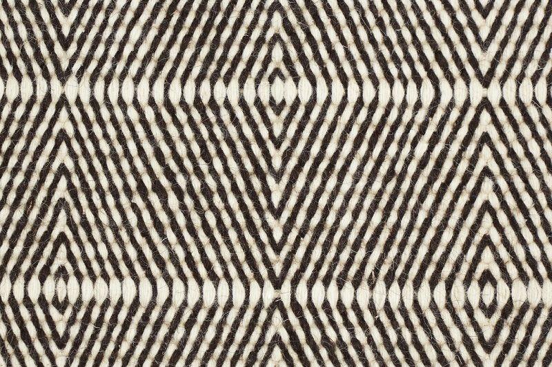 Fabula Living - Freja Hvid/Brun Kelim - 200x300 - Håndvævet Kelim 200x300 cm
