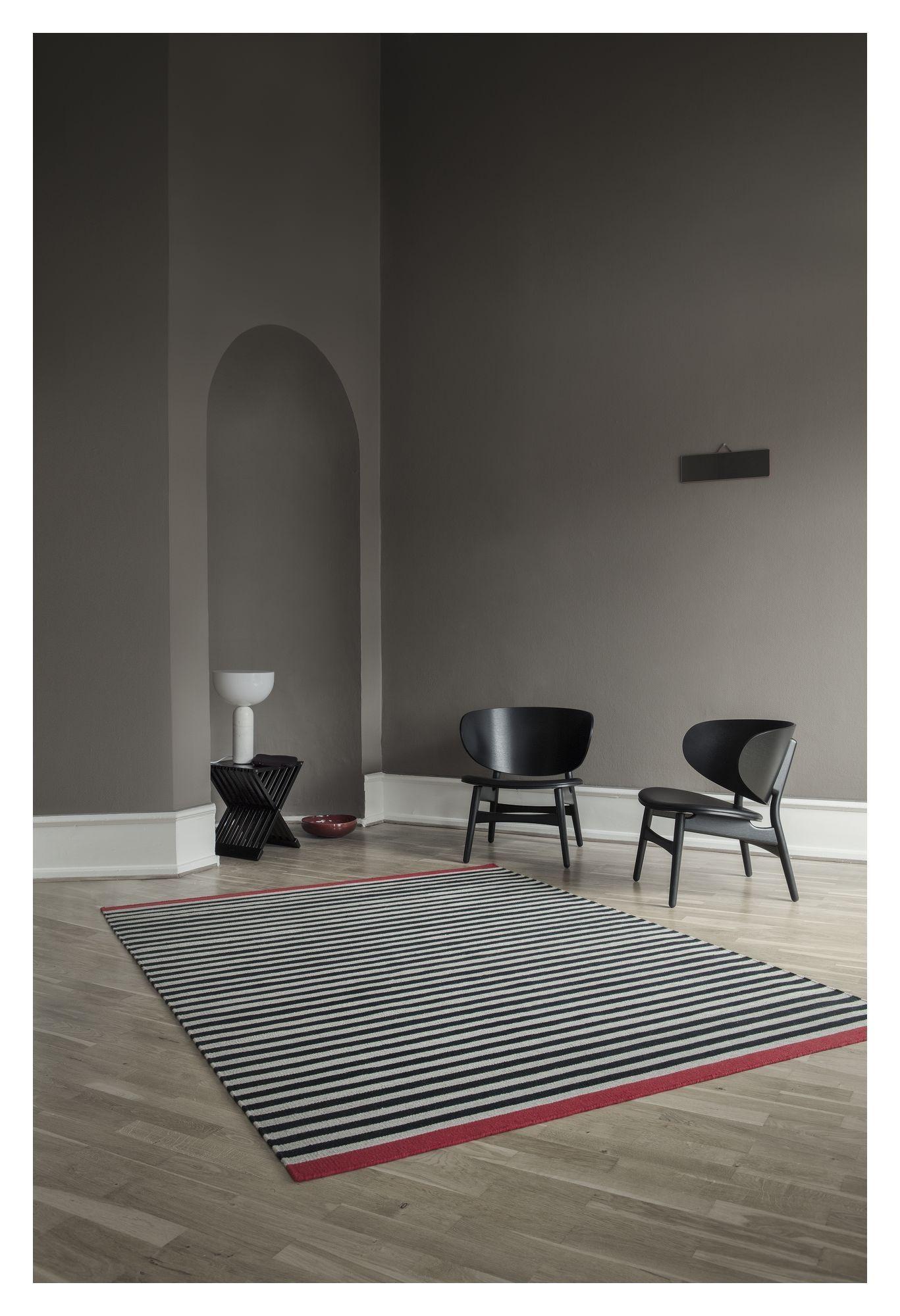 Fabula Living, Rosemary Sort/Beige Kelim, 170x240 - Håndvævet Kelim 170x240 cm