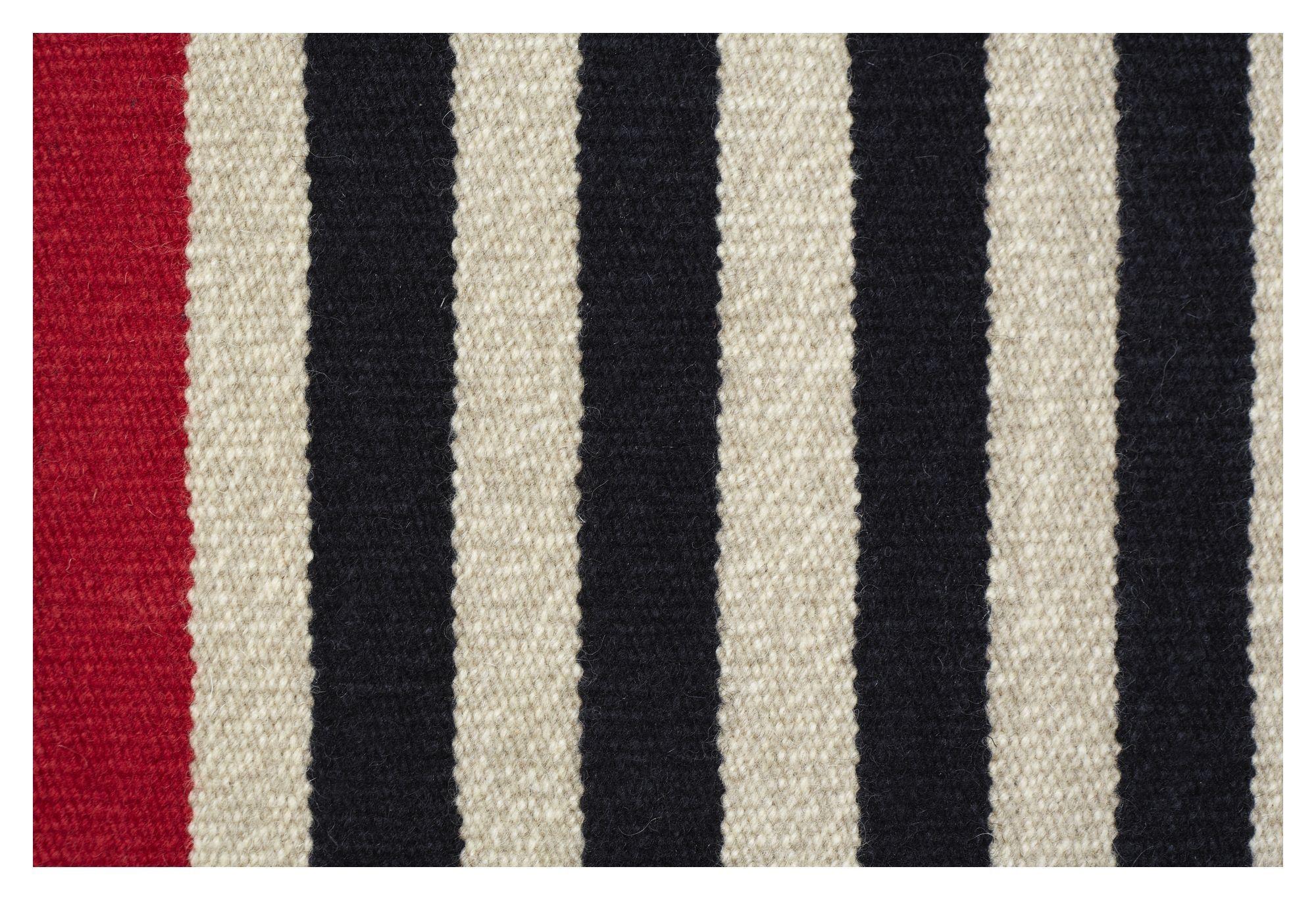 Fabula Rosemary tæppe - Sort/Beige - Håndvævet Kelim 170x240 cm