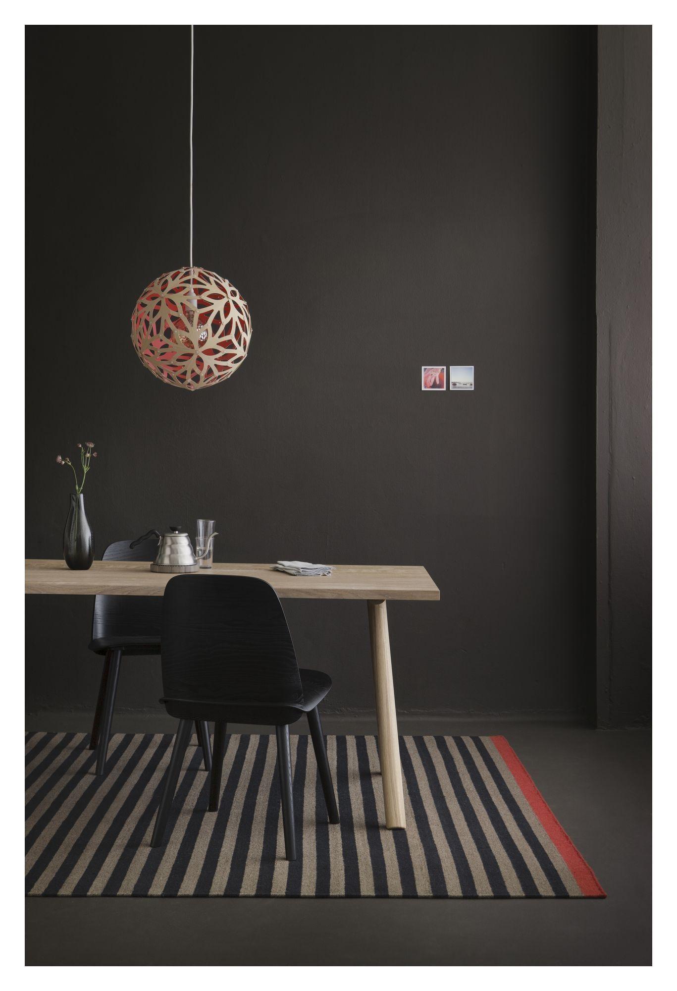 Fabula Living Rosemary Kelim Sort/Mauve, 140x200 - Håndvevd Kelim 140x200 cm