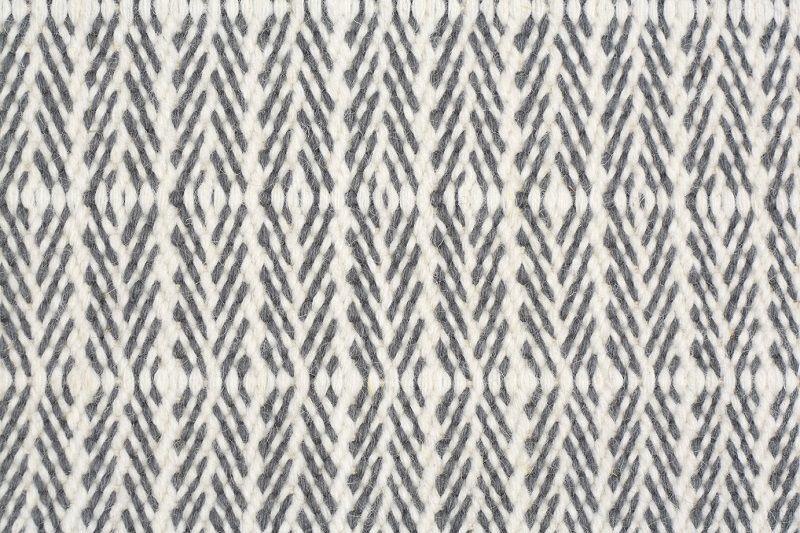 Fabula Tanne tæppe - Hvid/Grå - Håndvævet Kelim 170x240 cm