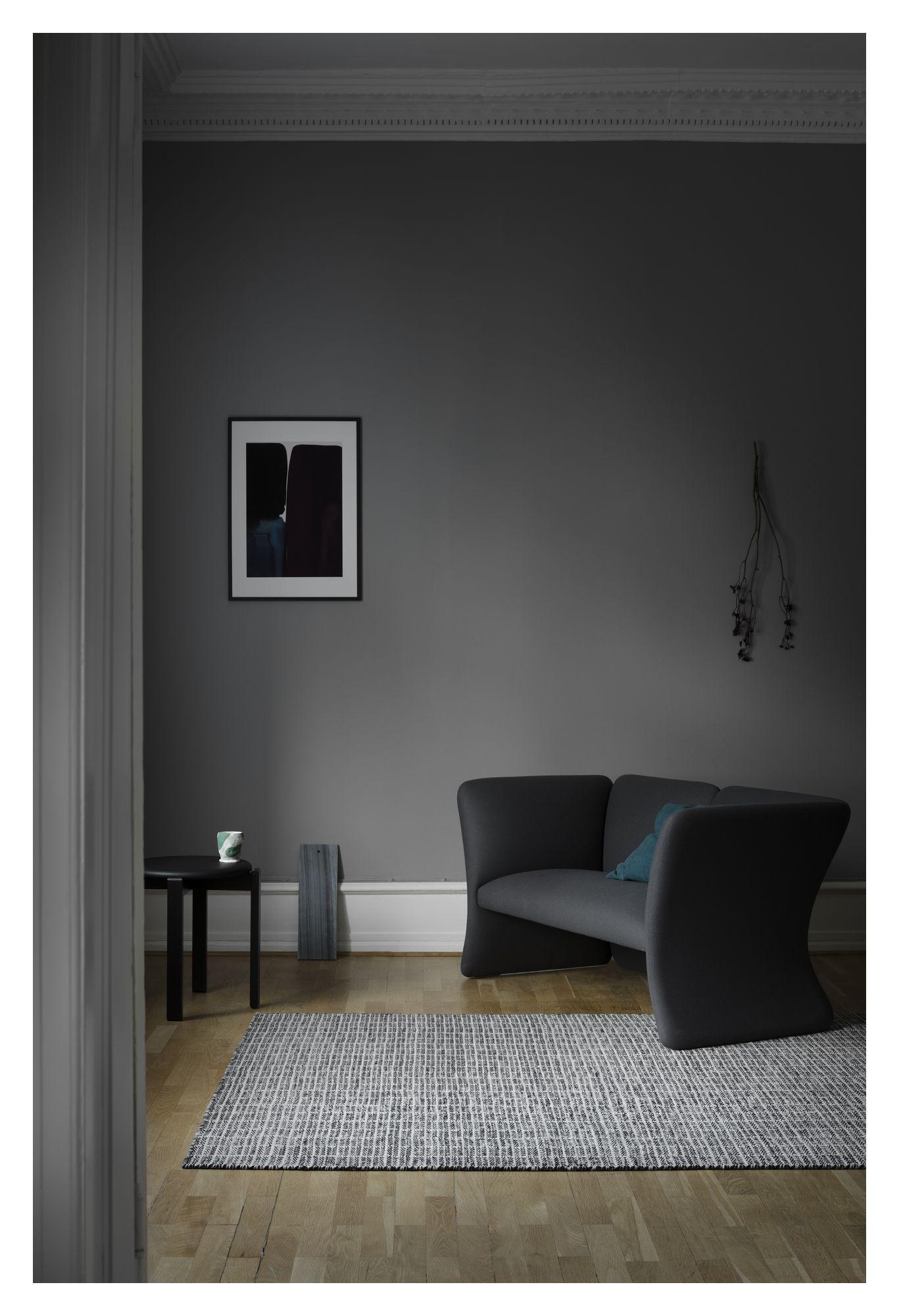 Fabula Living - Tanne Hvid/Sort Kelim - 140x200 - Håndvævet Kelim 140x200 cm