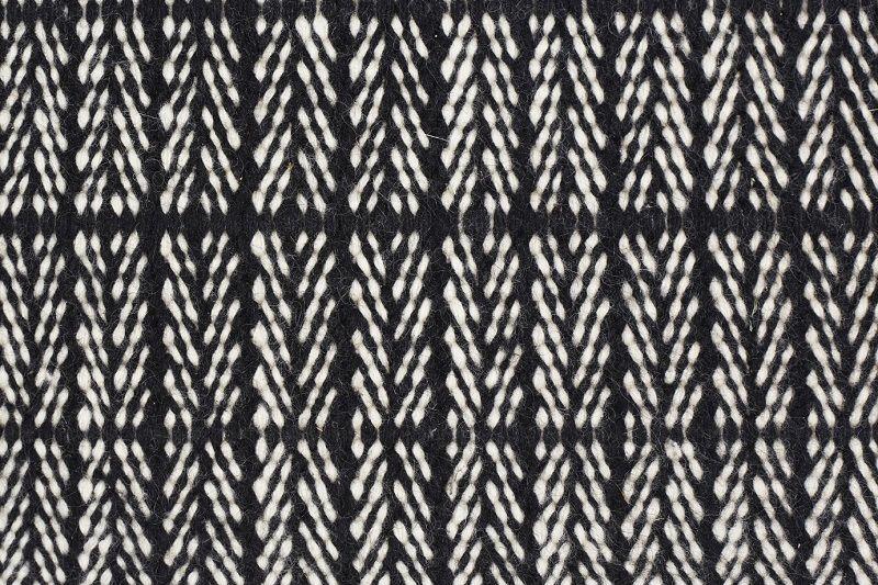 Fabula Living Tanne Kelim Sort/Hvid, 170x240