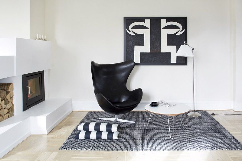 Fabula Living - Tanne Sort Kelim - 200x300 - Håndvævet Kelim 200x300 cm