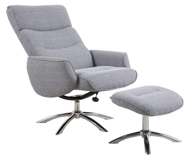 Fairfax Hvilestol - Grå - Grå hvilestol med skammel