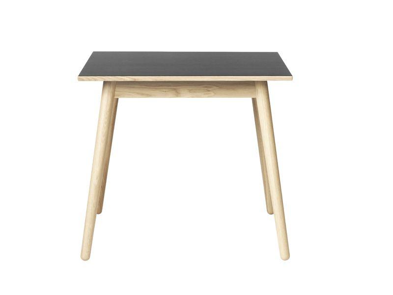FDB Møbler - C35A Spisebord 82x82 - Eg/Sort