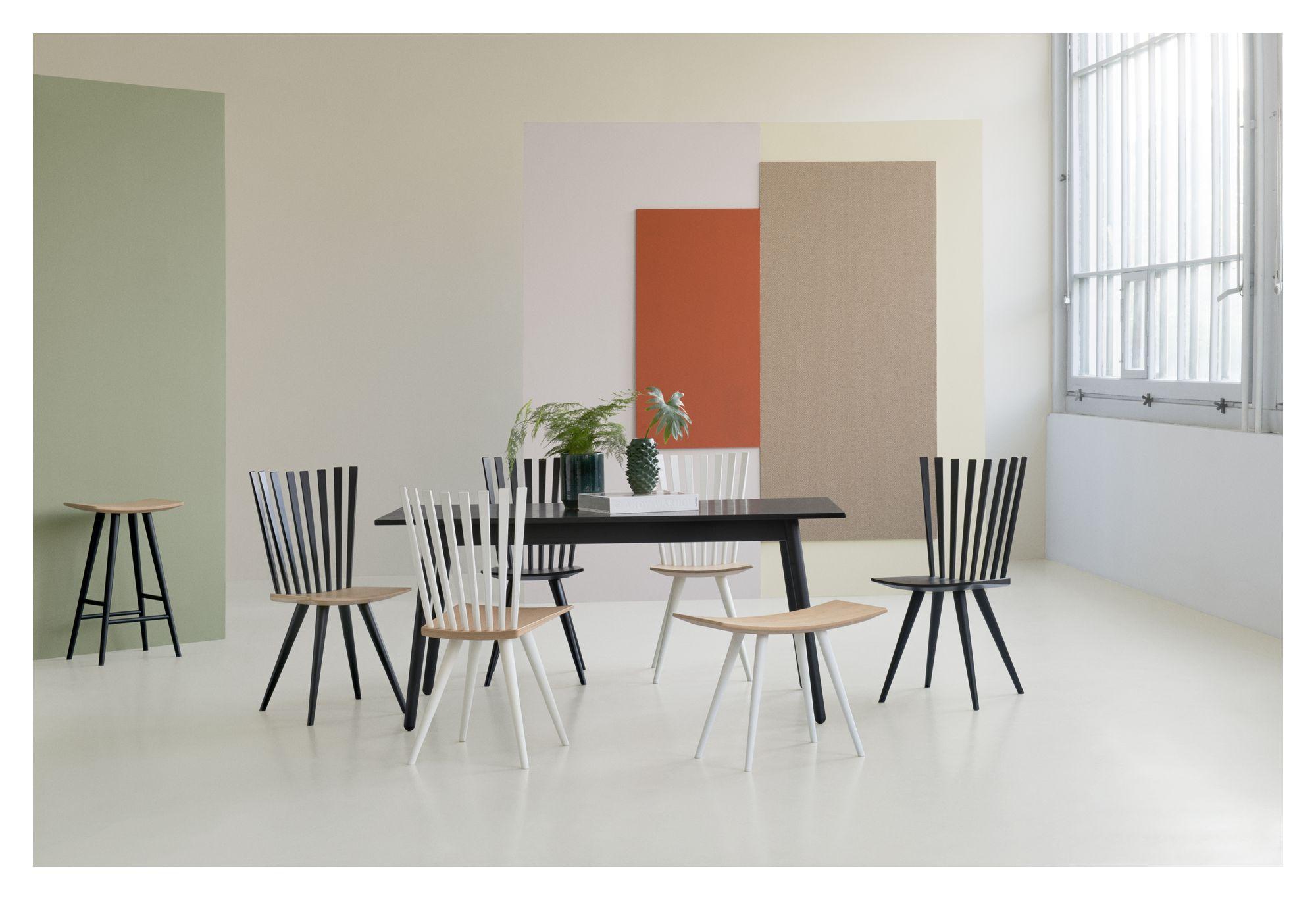 FDB Møbler - C35B Spisebord 160x82 - Sort