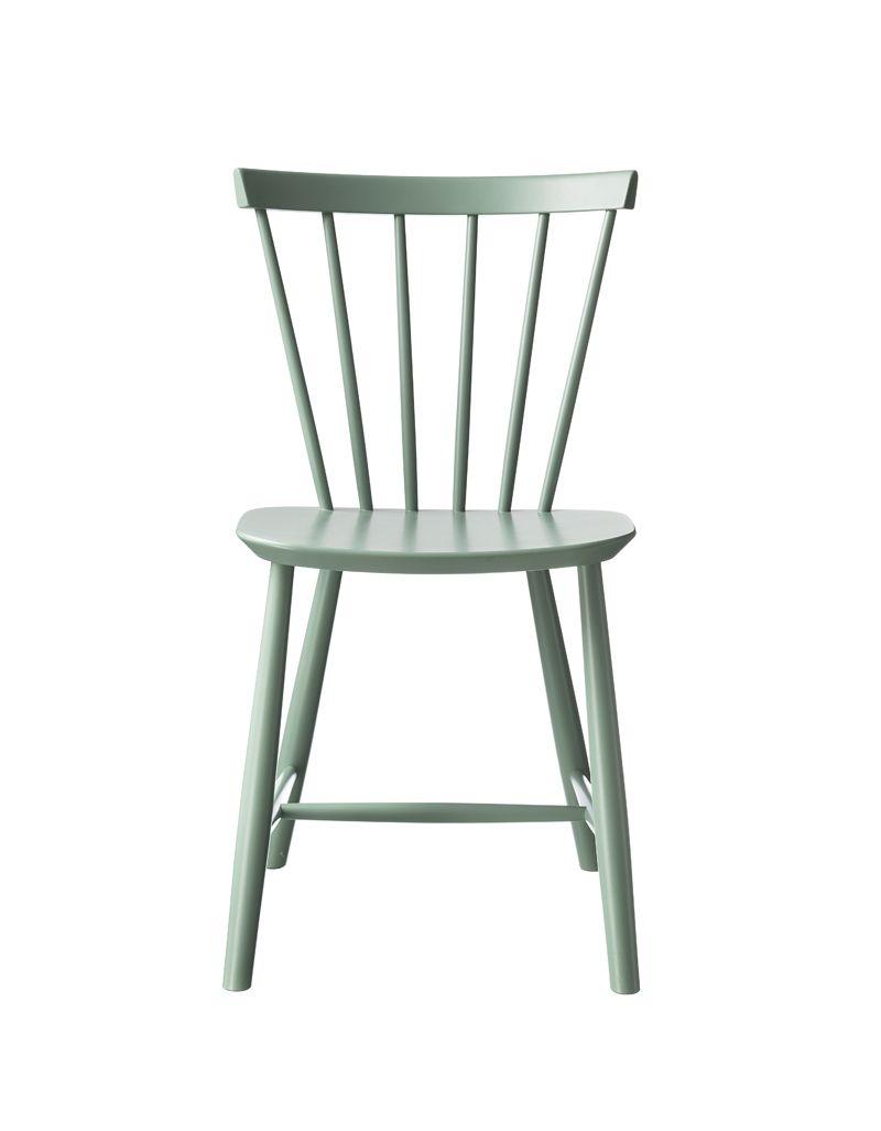 FDB Møbler - J46 Spisebordsstol - Støvet grøn