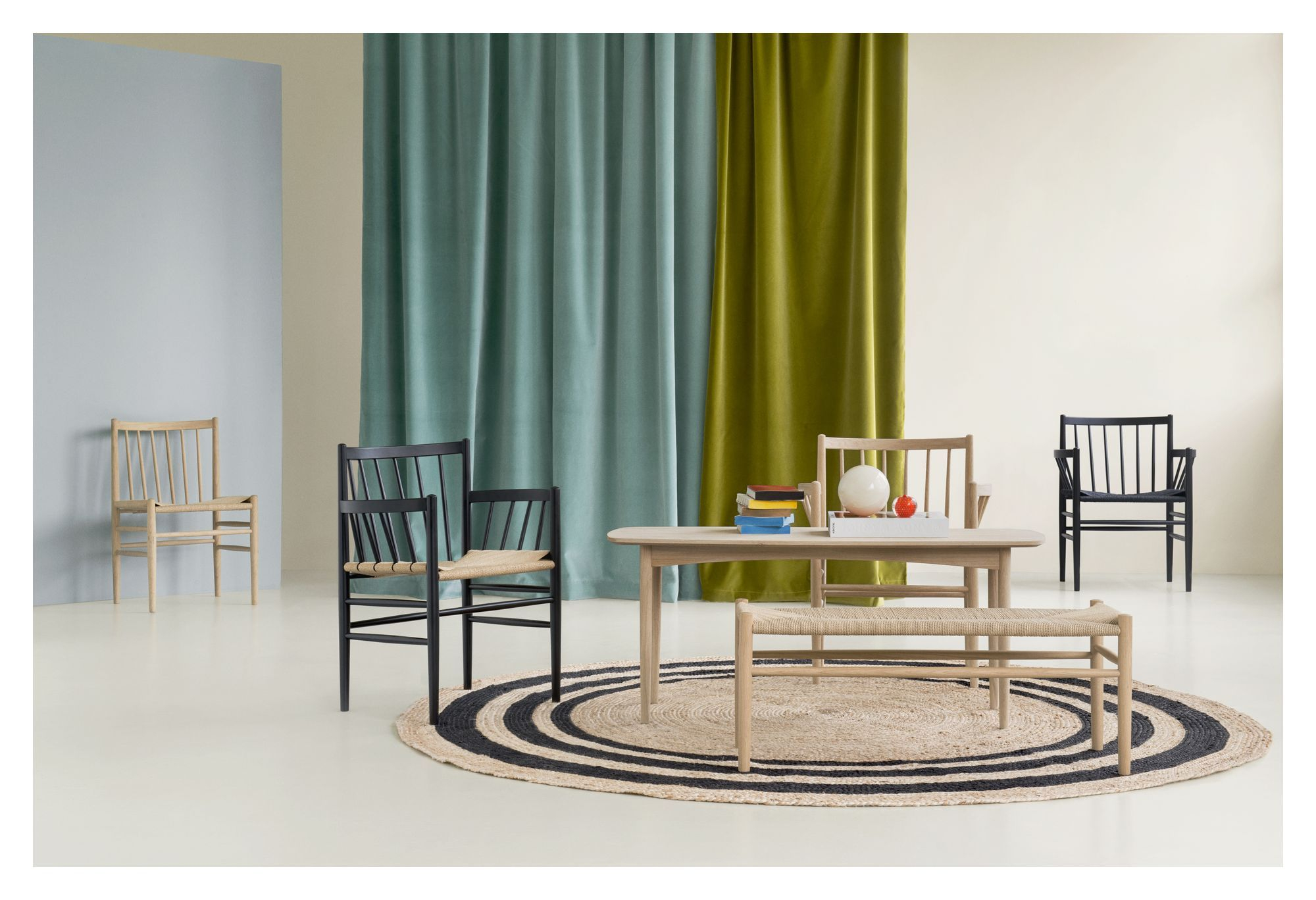 FDB Møbler - J80 Spisebordsstol - Sort/natur