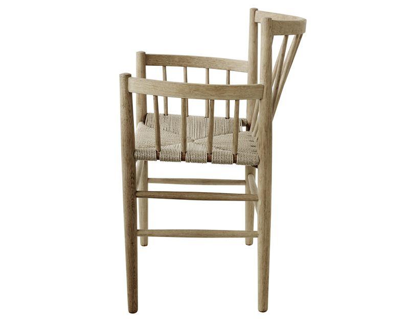 FDB Møbler - J81 Spisebordsstol m/armlæn - Eg