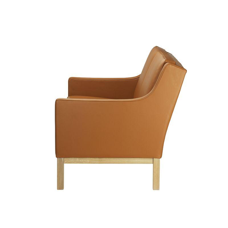 FDB Møbler - L601-2-pers. Sofa - Cognac