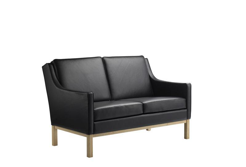 FDB Møbler - L601-2-pers. Sofa - Sort