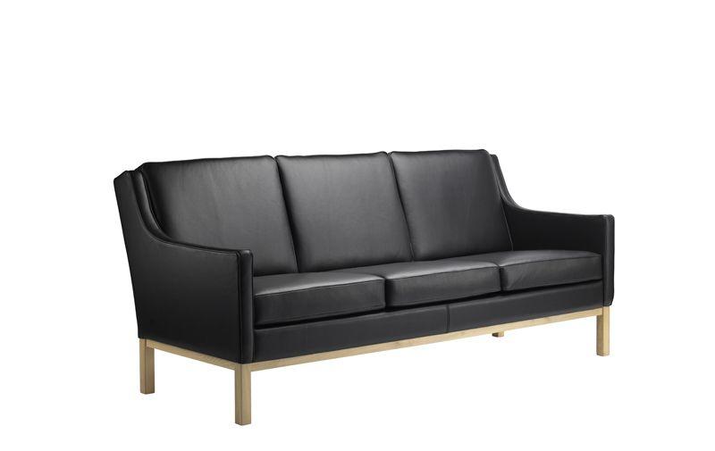 FDB Møbler - L601-3-pers. Sofa - Sort