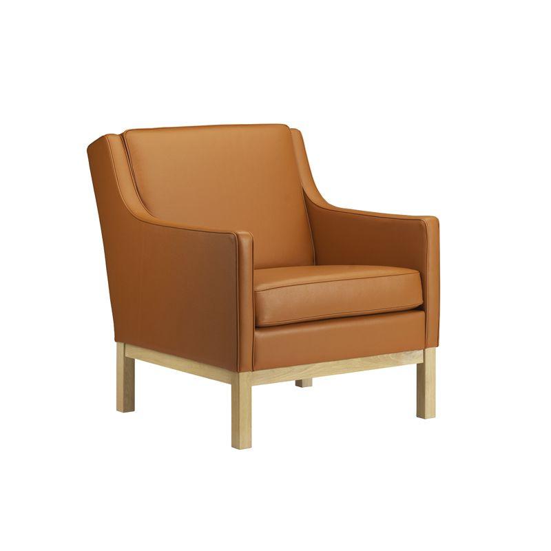 FDB Møbler - L603 Lænestol - Cognac