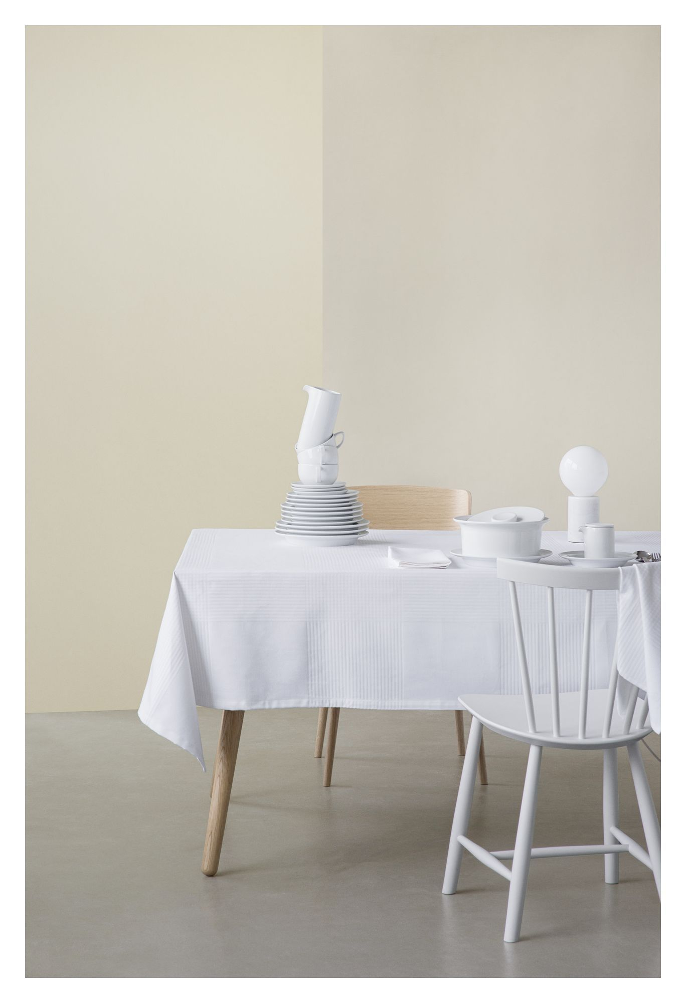 FDB Møbler - Olga Dug 240x140 - Hvid