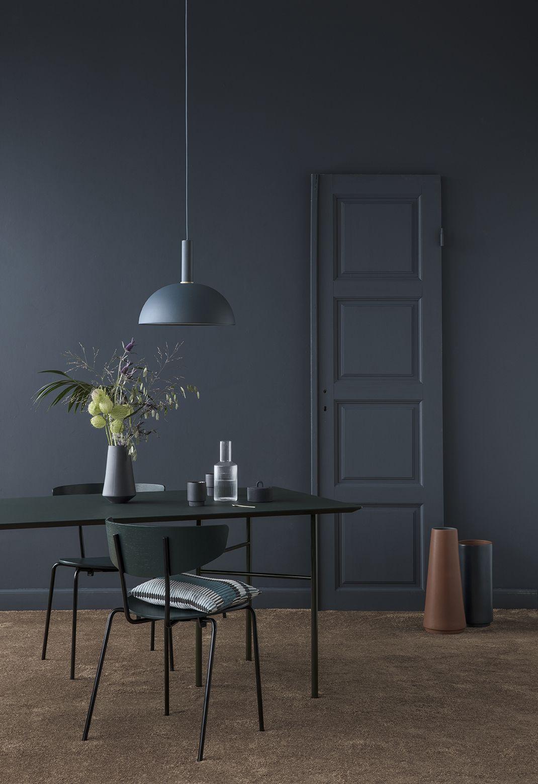Ferm Living, Dome Skærm, Mørk Blå, Ø38