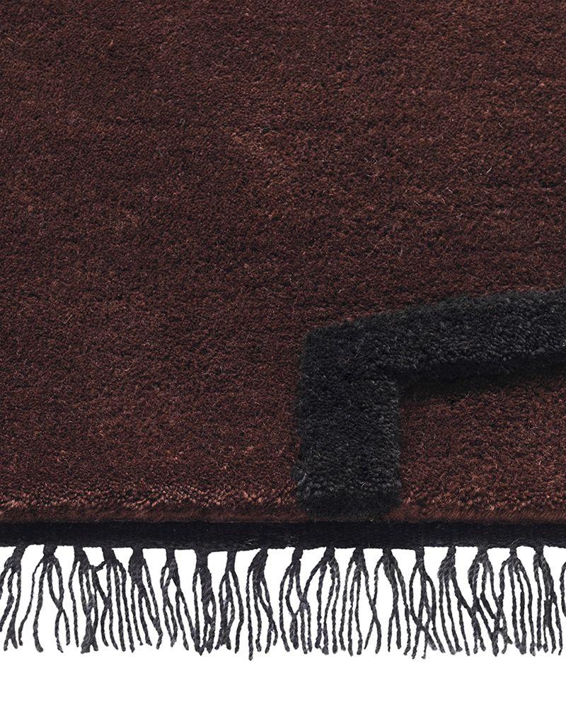 Ferm Living - Desert Tuftet tæppe - Rød Brun