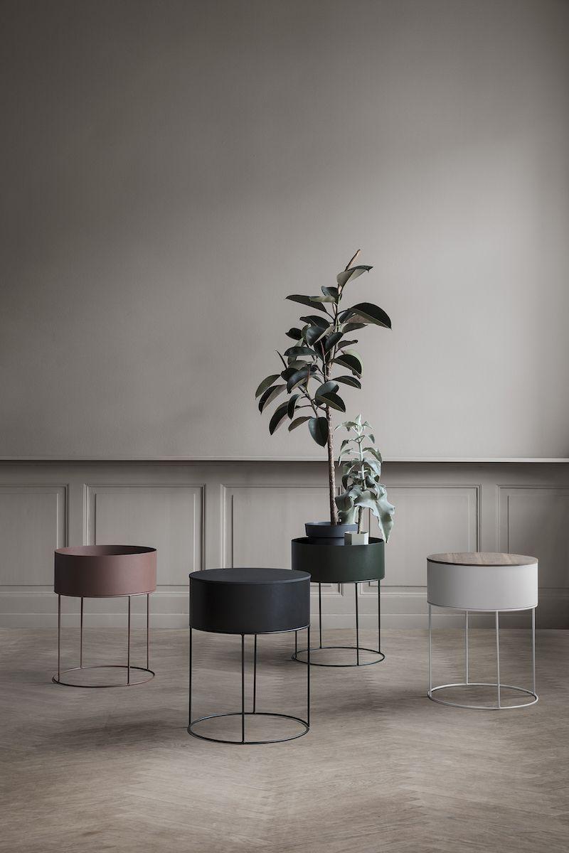 Ferm Living - Plant Box - Lys grå - Ø40