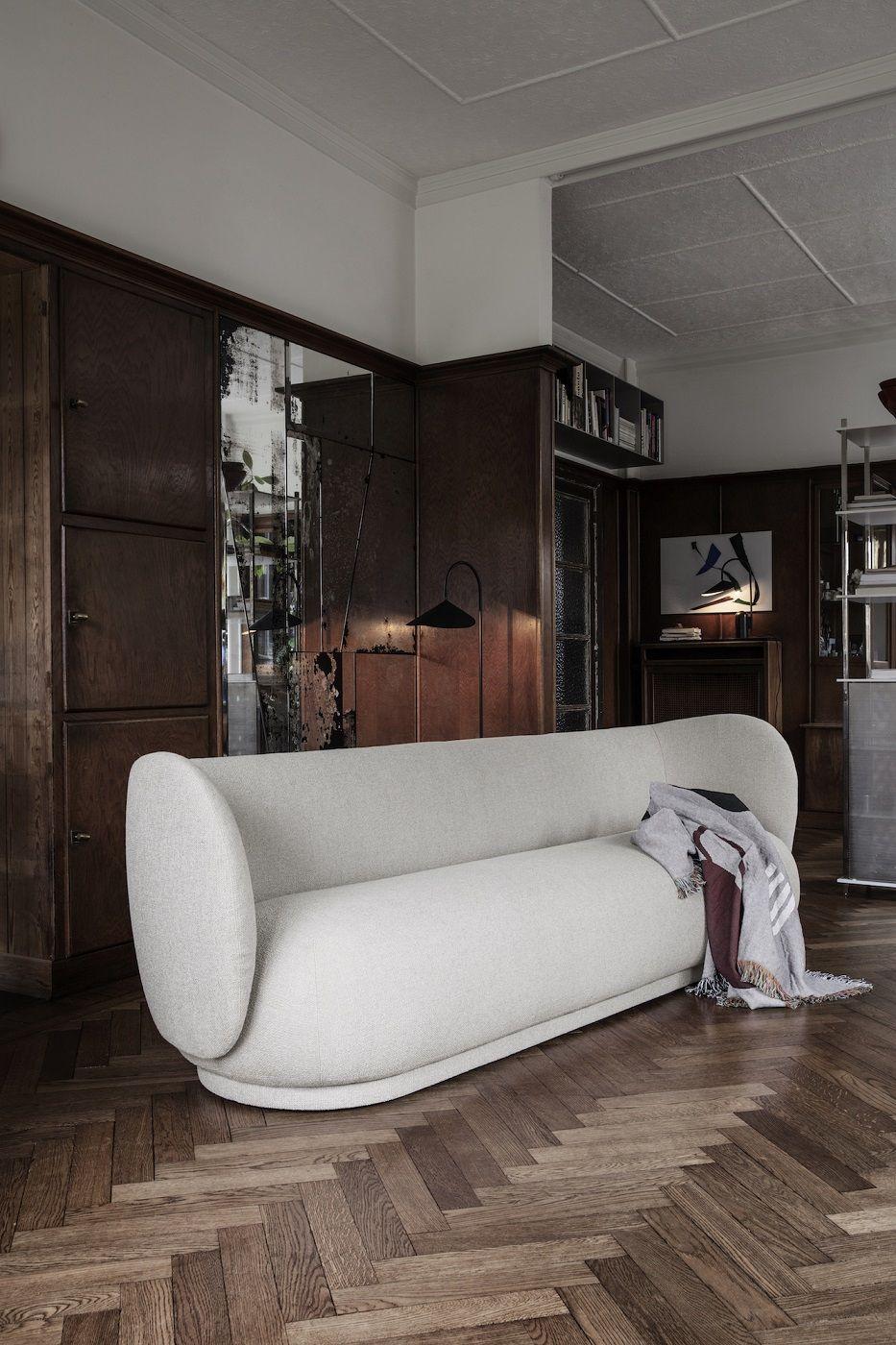 Ferm Living - Rico 3-pers. Sofa - Off White bouclé