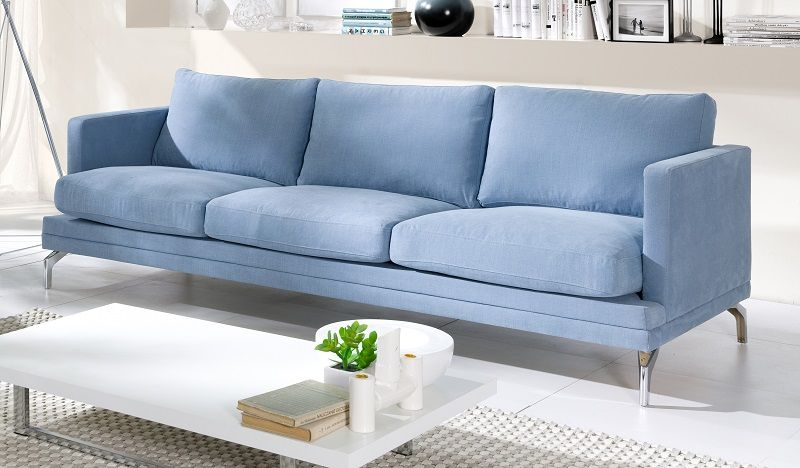 Fernley 3-pers.  Sofa - Blå - Blå 3-pers sofa