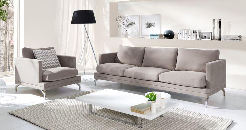 Fernley 3-pers.  Sofa - Khaki - Brun 3 pers. sofa