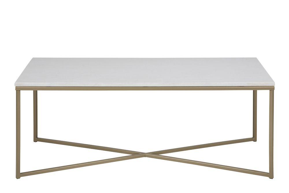 Filippa Sofabord 120x60 - Hvid marmor