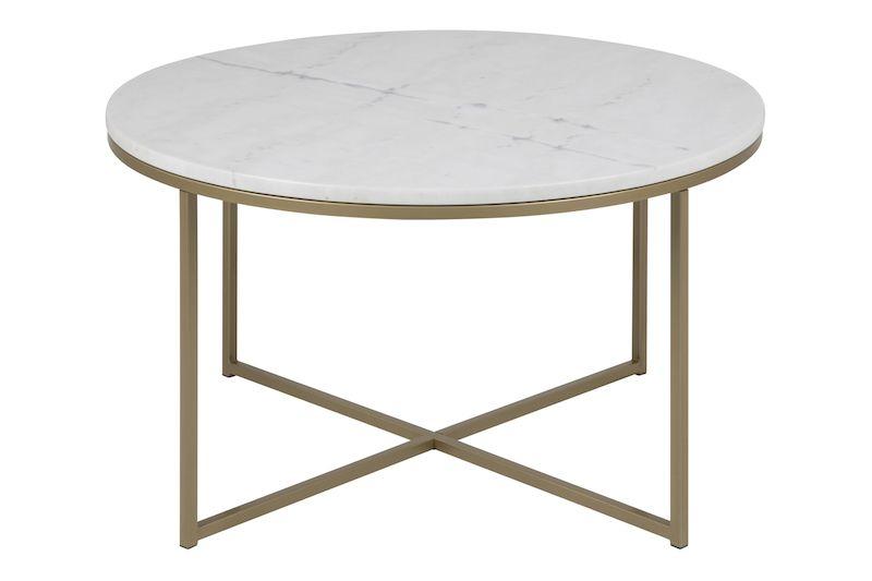 Filippa Sofabord Ø80 - Hvid marmor