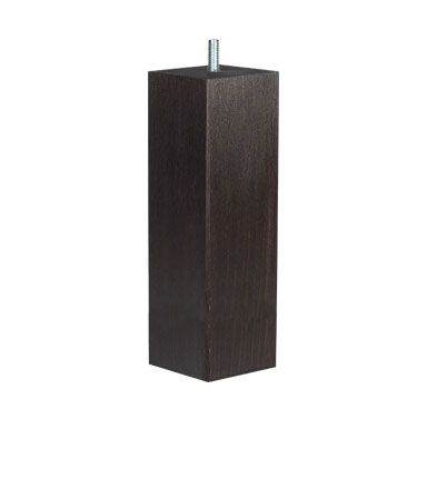 Firkantede sorte ben - 19 cm - Sorte firkantet sengeben