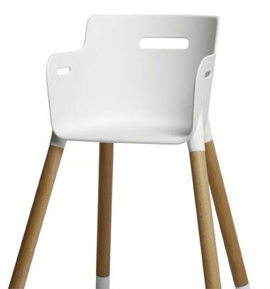 FLEXA Baby Højstol m/sikkerhedsbøjle - Bøg/Hvid - Flexa Baby - høystol i bøk. 0-12 år