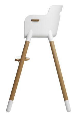 Flexa - Baby Højstol m/tilbehør - Bøg/Hvid - Flexa Baby - højstol i bøg. 0-12 år