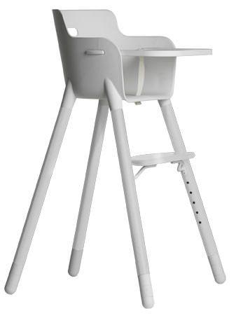 FLEXA Baby Højstol m/sikkerhedsbøjle - Hvid - Flexa Baby - høystol i hvit. 0-12 år