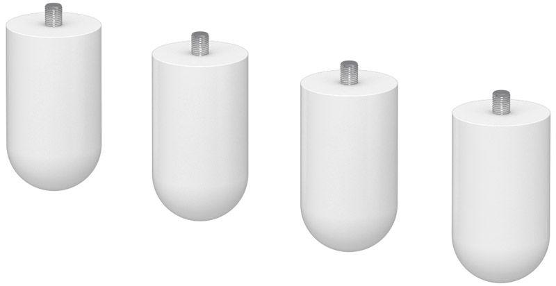 FLEXA Cabby ben - 4 stk. - hvid plast - Hvite ben til Flexa Cabby-serien
