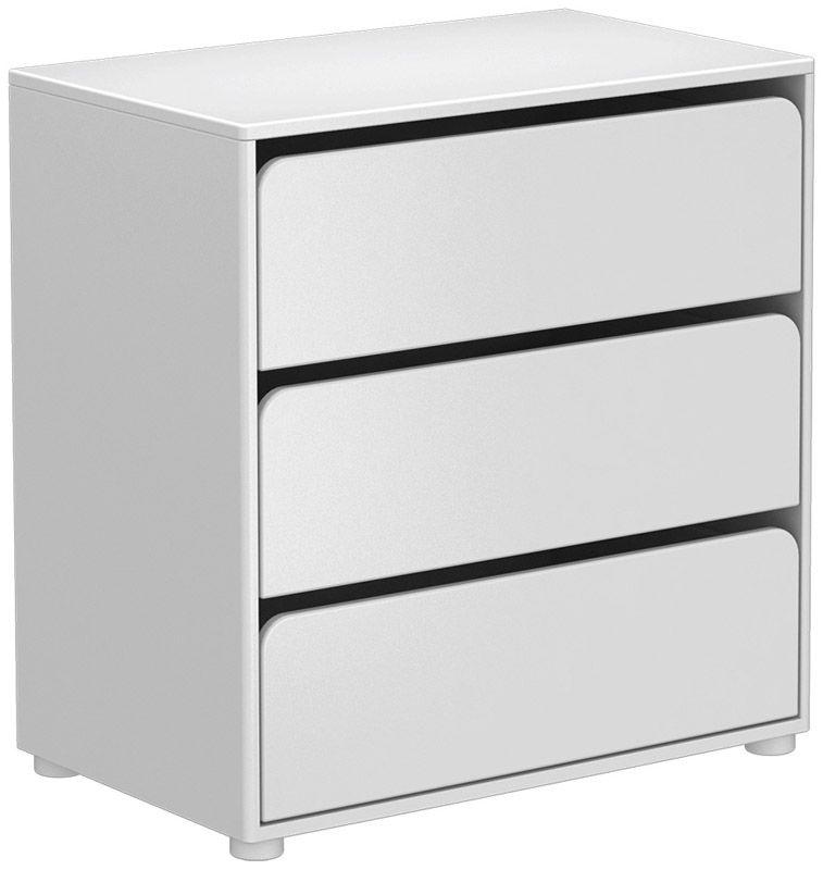 FLEXA - Cabby Puslebord m/3 skuffer - Hvid - Stellebord i hvit med tre skuffer