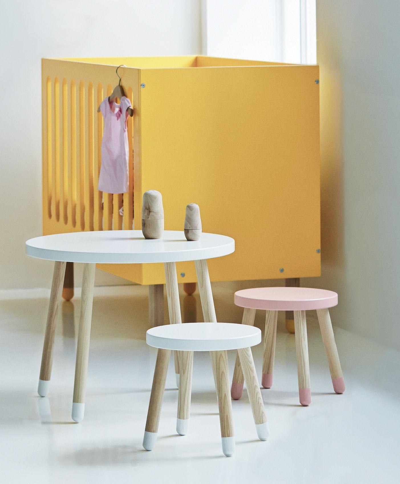 Flexa - Play Børnebord - Hvid - Flexa legebord - hvid -  Ø60 cm