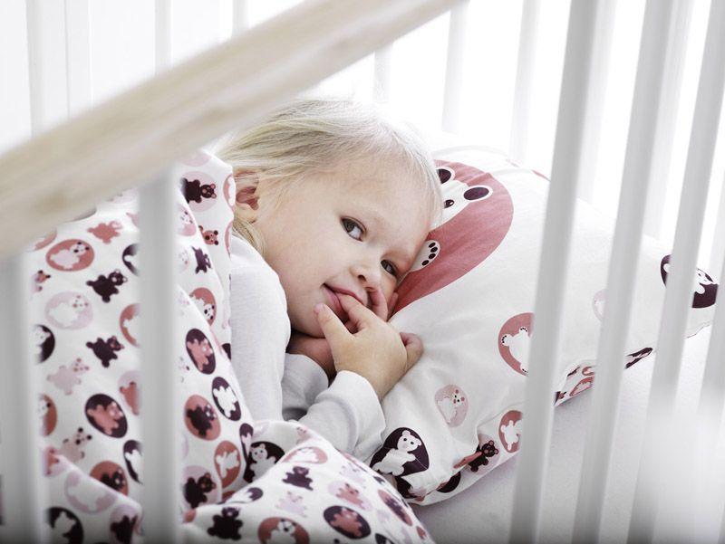 FLEXA - Junior sengetøj - rosa - 100x140cm - Sengesæt i bomuldssatin