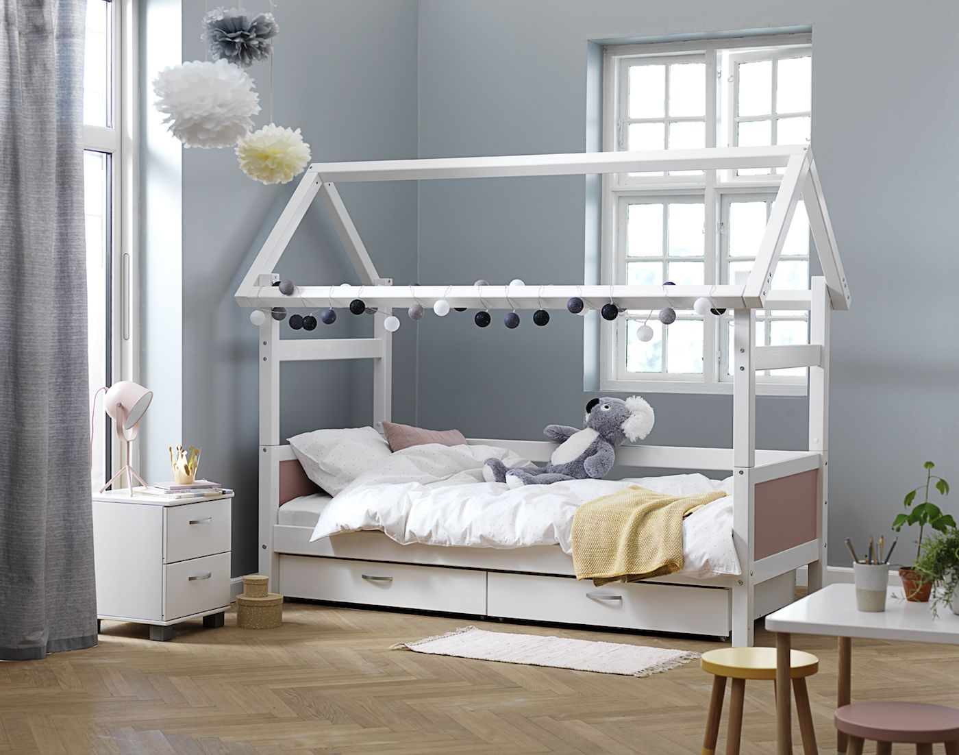 FLEXA - Nordic Kommode m/2 skuffer - Hvid