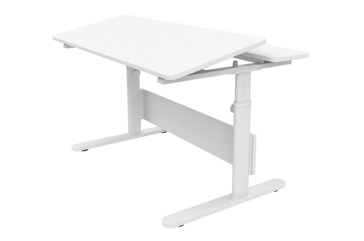 FLEXA - Study - EVO skrivebord med frontvip - hvid